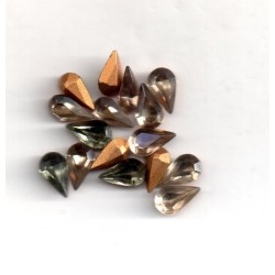 10 STRASS PEARS ARTICLE 4300/2 - 4.8X8 SMOKED CRYSTAL
