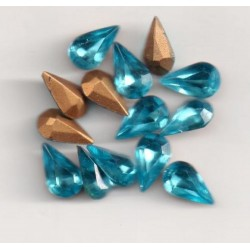 10 STRASS PEARS ARTICLE 4300 - 10X6 AIGUES MARINE