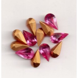 10 STRASS PEARS ARTICLE 4300 - 10X6 PINK