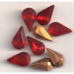10 STRASS PEARS ARTICLE 4300 - 13X7.8 SIAM