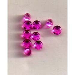 10 ROUND BEADS SYNTHETIC STONE GARNET 2.3 MM