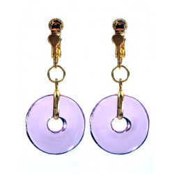 Eulalia lilac earrings