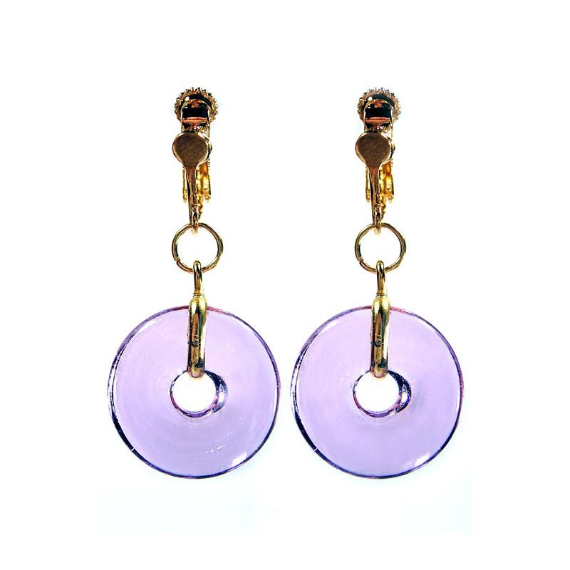 Boucles d'oreilles Eulalia violet