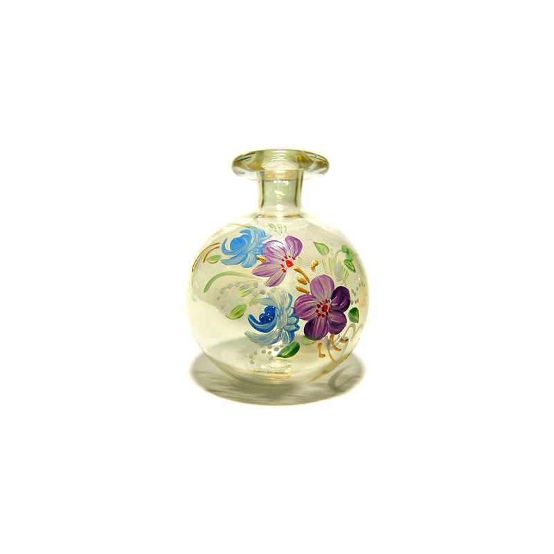 Small perfume bottle of blown glass from Murano