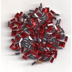 24 STRASS BAGUETTES - ART 4500 - 4x2 - SIAM COMET ARGENT LIGHT