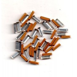 24 STRASS BAGUETTES - ART 4500 - 6x2 - CRYSTAL