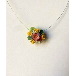 COLLIER RAS DE COU BOUQUET...