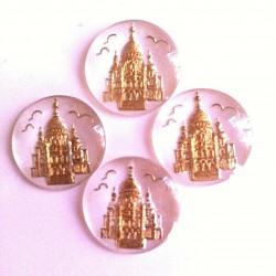 20 MONTMARTRE GLASS PATTERNS WHITE GOLD BACKGROUND 18 MM