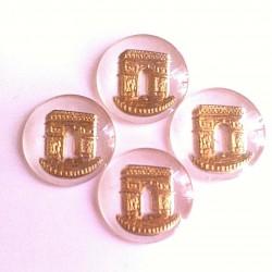 5 GLASS PATTERNS ARC DE TRIOMPHE BACKGROUND WHITE GOLD 18 MM