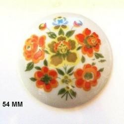 1 LIMOGES PORCELAIN PLATE 54 MM BOUQUET DE ROSES DECORATION