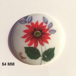 1 LIMOGES PORCELAIN PLATE 54 MM FLOWER DECORATION