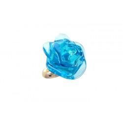 Turquoise Camellia Ring