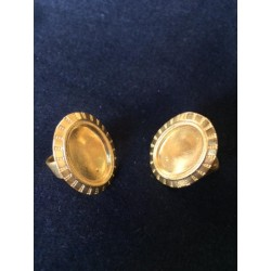 5 ADJUSTABLE RINGS GOLD PLATE