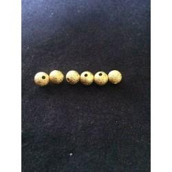 LOT DE 10 PERLES INTERCALAIRES granitées dorées 8 mm
