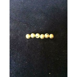 LOT OF 10 GOLDEN GRANITE INTERCALAR BEADS 6 MM