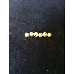 LOT DE 10 PERLES INTERCALAIRES granitées dorées 6 mm