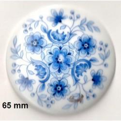 1 LIMOGES PORCELAIN PLATE 65 MM BLUE BOUQUET DECORATION
