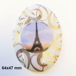 copy of 1 PLAQUE PORCELAINE LIMOGES 40 MM TOUR EIFFEL
