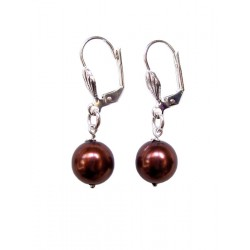 Nacre pearl earrings