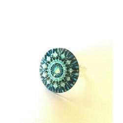 copy of BAGUE CABOCHON CRISTAL MURANO REGLABLE