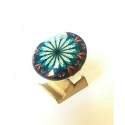 VITRAIL CABOCHON RING ADJUSTABLE RING 25 MM