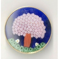 MURINE BROOCH OF MURANO 43 MM GOLD PLATED