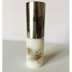 SMALL RECHARGEABLE OPALINE GLASS BAG VAPORIZER WITH ROSES DECORATION silver