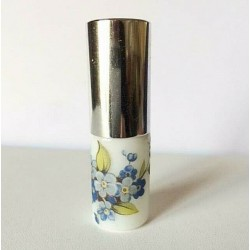 SMALL RECHARGEABLE PORCELAIN BAG SPRAYER WITH FLOWER DECORATION silver
