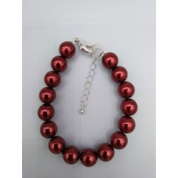 RED PEARL GLASS BRACELET