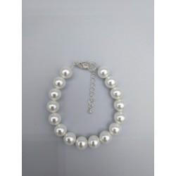 WHITE PEARL GLASS BRACELET