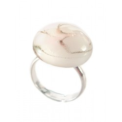 Pink crystal France and aventurine ring - Round Rings - Jewelry