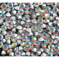 50 STRASS ROND PP24 - 3.1 MM AURORE IRISE