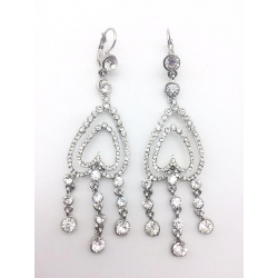 LARGE CRYSTAL PENDANT EARRINGS