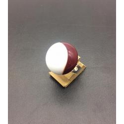 FRANCE CRYSTAL CABOCHON RING 2 CM ADJUSTABLE BICOLOR RED WHITE