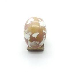 BAGUE CABOCHON OVALE CRISTAL  18X25 MM REGLABLE ROSE