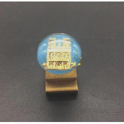 SOUVENIR DE NOTRE DAME ROUND CABOCHON RING IN GLASS 18 MM