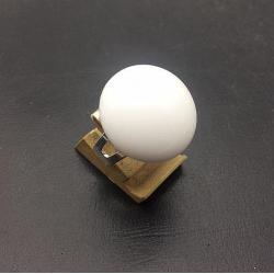 20MM White Glass Round Ring