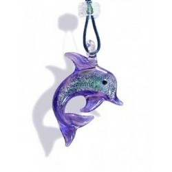 MURANO LILAC COLORED DOLPHIN NECKLACE