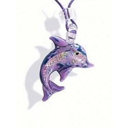 MURANO COLLIER DAUPHIN COULEUR MAUVE
