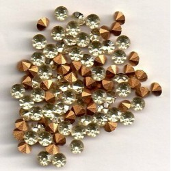 50 STRASS ROND PP27 - 3,4 MM JONQUILLE
