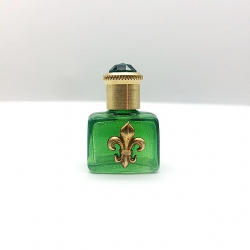 MINIATURE FOR COLLECTIBLE PERFUME OR FOR THE FLEUR DE LYS GREEN COLOR BAG