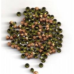 50 ROUND STRASS PP27 - 3,4 MM OLIVINE