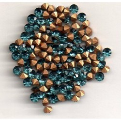 50 ROUND STRASS PP27 - 3,4 MM INDIAN SAPPHIRE
