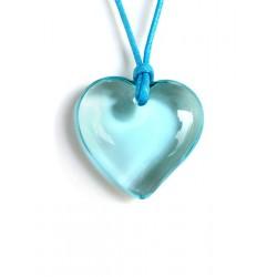 Pendentif coeur en cristal Aigue pastel