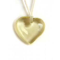 Pendentif coeur en cristal