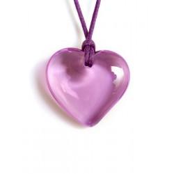 Lilac crystal heart pendant