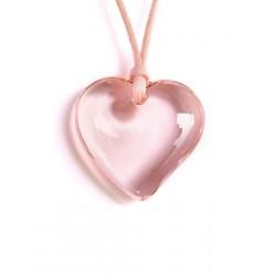 Rose crystal heart pendant
