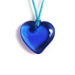 Pendentif coeur en cristal Saphir