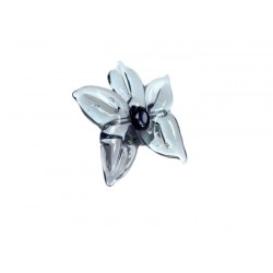 Grey Murano glass flower ring - Rings - Jewelry