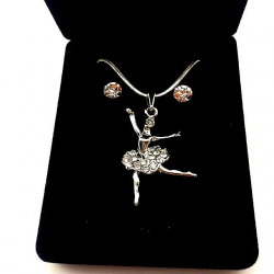RHINESTONES AND EARRINGS DANCER SET